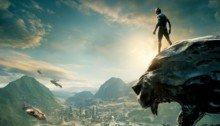 Bannière sans texte pour le film Black Panther