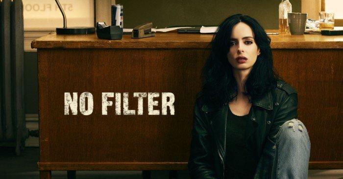 Poster de la deuxième saison de Jessica Jones avec Krysten Ritter sans filtre