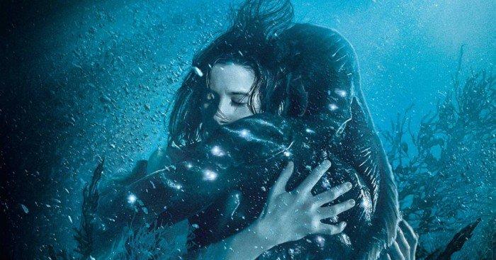 Affiche française du film La Forme de l'eau – The Shape of Water réalisé par Guillermo del Toro avec Sally Hawkins et Doug Jones