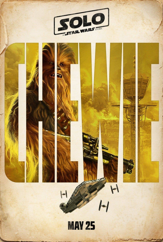 Poster personnage du film Solo: A Star Wars Story avec Chewie (Joonas Suotamo)