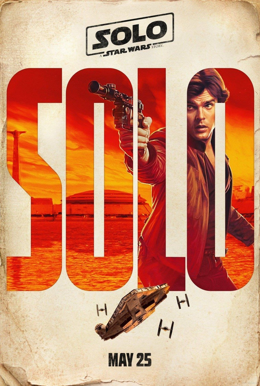 Poster personnage du film Solo: A Star Wars Story avec Han Solo (Alden Ehrenreich)