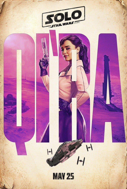 Poster personnage du film Solo: A Star Wars Story avec Qi'Ra (Emilia Clarke)