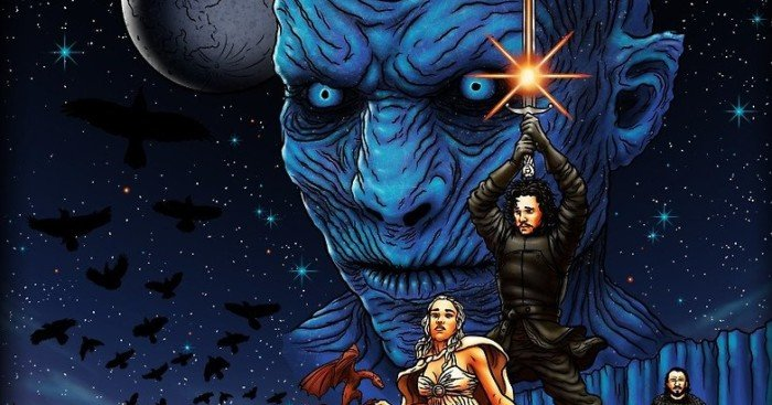 Fan art parodiant Star Wars: Un Nouvel Espoir façon Game of Thrones