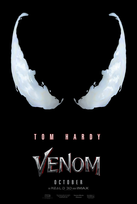 Poster teaser du film Venom réalisé par Ruben Fleischer avec Tom Hardy