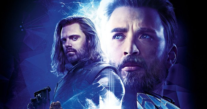 Affiche du film Avengers: Infinity War avec l'équipe bleue