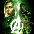Affiche du film Avengers: Infinity War avec l'équipe verte