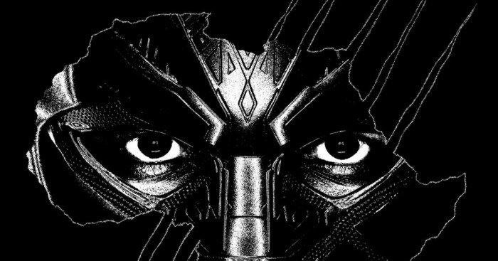 Poster du film Black Panther avec le continent africain