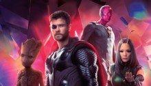 Couverture sans texte du magazine Empire pour le film Avengers: Infinity War avec l'équipe rouge