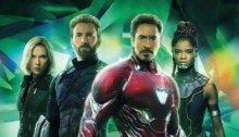 Couverture sans texte du magazine Empire pour le film Avengers: Infinity War avec l'équipe verte (Black Widow, Captain America, Iron Man et Shuri)