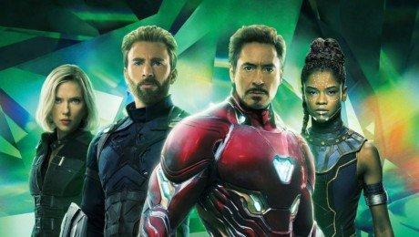 Couverture sans texte du magazine Empire pour le film Avengers: Infinity War avec l'équipe verte