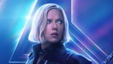 Poster du film Avengers: Infinity War avec Black Widow (Scarlett Johansson)