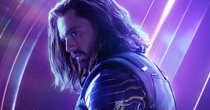 Poster du film Avengers: Infinity War avec Bucky alias White Wolf alias Winter Soldier (Sebastian Stan)