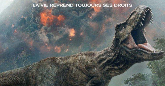Affiche française pour le film Jurassic World: Fallen Kingdom réalisé par J.A. Bayona avec Chris Pratt, Bryce Dallas Howard et Justice Smith