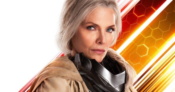 Poster du film Ant-Man et la Guêpe avec Janet Van Dyne (Michelle Pfeiffer)