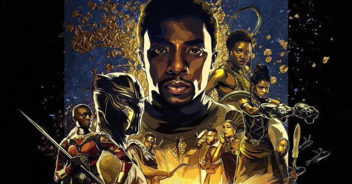 Poster IMAX pour le film Black Panther réalisé par Ryan Coogler