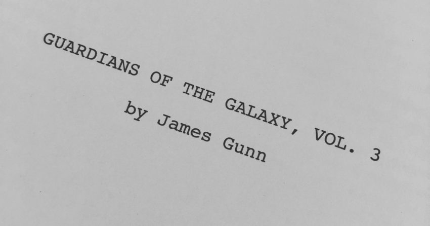 Photo du scénario du film Les Gardiens de la Galaxie Vol. 3 par James Gunn