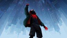 Poster du film Spider-Man: New Generation avec Miles Morales à l'envers