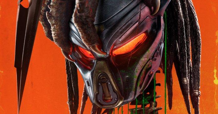 """Poster du film The Predator (2018) réalisé par Shane Black avec la tagline """"The hunt has evolved"""""""