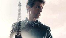 Affiche française du film Mission: Impossible – Fallout réalisé par Christopher McQuarrie avec Tom Cruise, Henry Cavill, Ving Rhames, Simon Pegg et Rebecca Ferguson