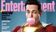 Couverture du magazine Entertainment Weekly pour juillet 2018 avec le film Shazam! et Zachary Levi