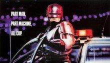 Poster du film RoboCop (1987) réalisé par Paul Verhoeven avec Peter Weller (RoboCop), Nancy Allen (Officer Anne Lewis), Kurtwood Smith (Clarence J. Boddicker), Miguel Ferrer (Bob Morton) et Ronny Cox (Dick Jones)