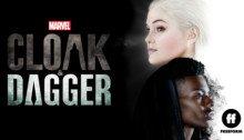 Bannière de la première saison de la série Marvel's Cloak & Dagger avec Olivia Holt et Aubrey Joseph