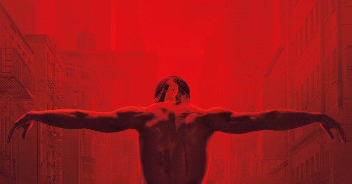Poster teaser avec Matt Matt Murdock tel JC pour la troisième saison de la série Daredevil dirigée par Erik Oleson
