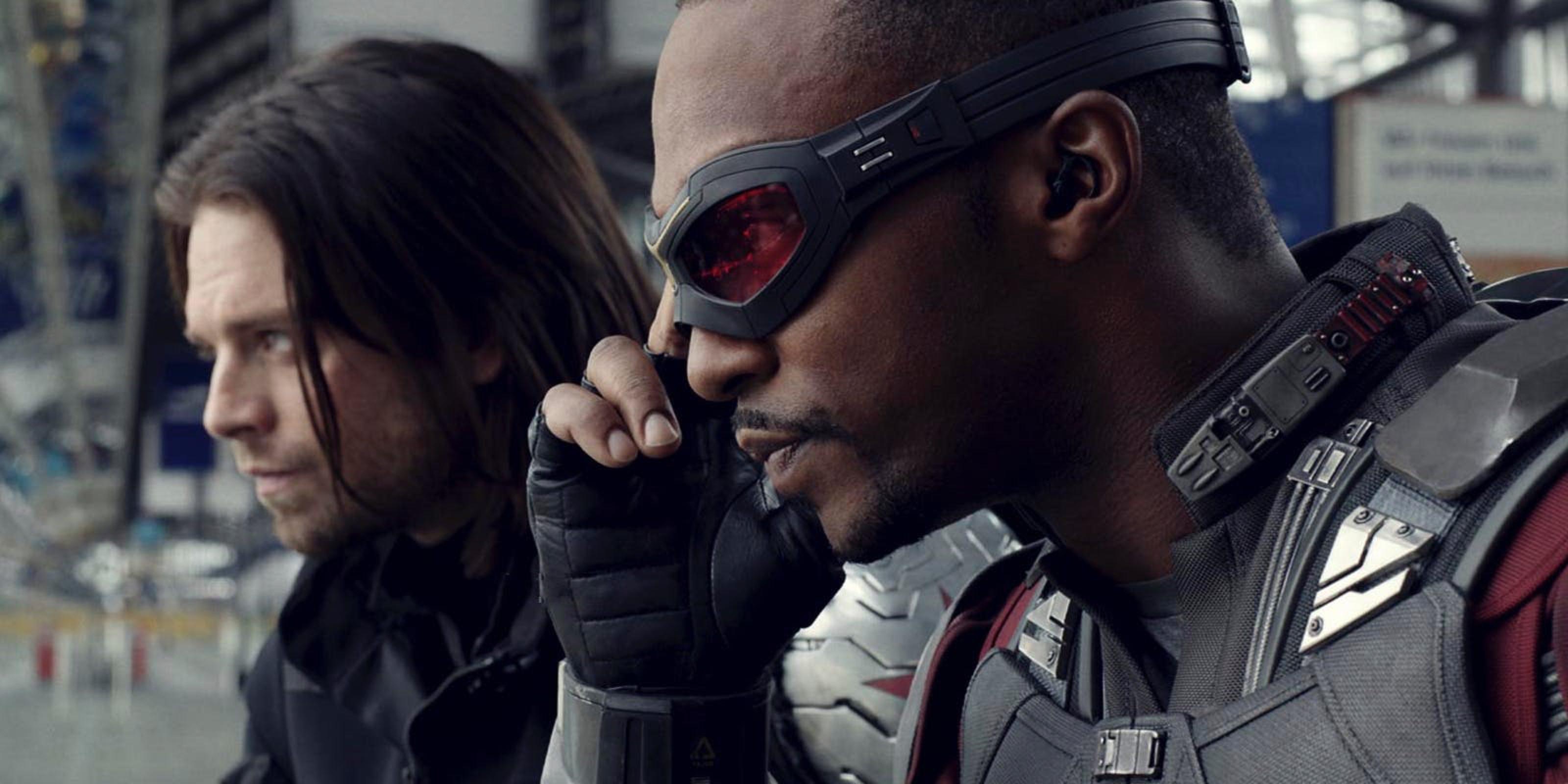 Photo du film Captain America: Civil War avec Winter Soldier et Falcon