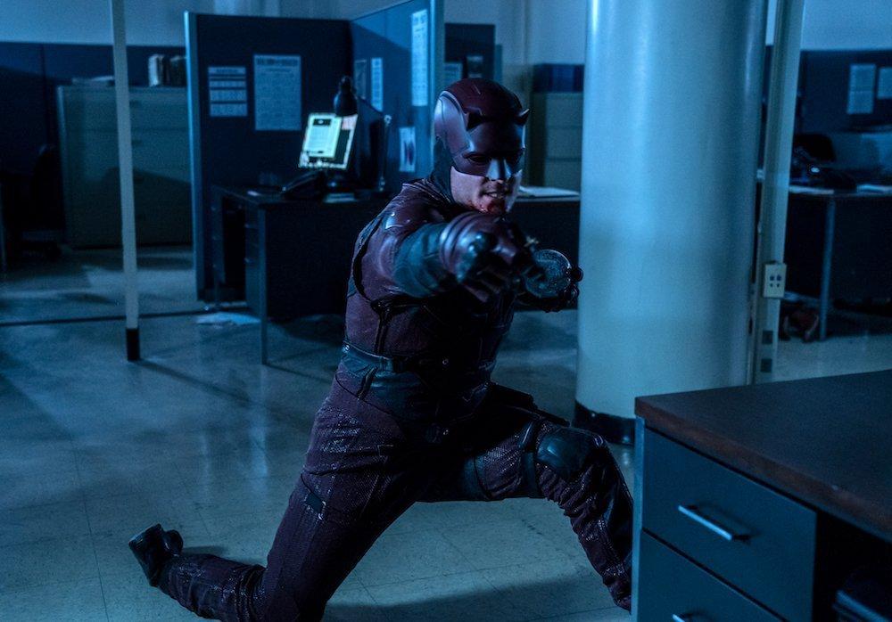 Photo de la troisième saison de la série Daredevil dirigée par Erik Oleson avec Bullseye