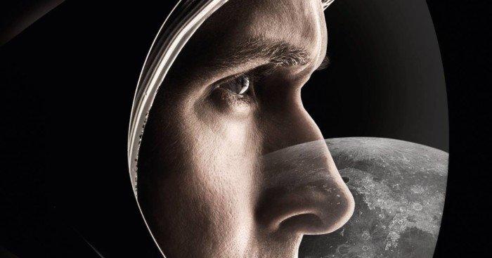 Affiche française pour le film First Man: Le premier homme sur la lune avec Ryan Gosling