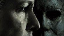 Affiche française du film Halloween réalisé par David Gordon Green, d'après un scénario de David Gordon Green, Danny McBride et Jeff Fradley, avec Jamie Lee Curtis