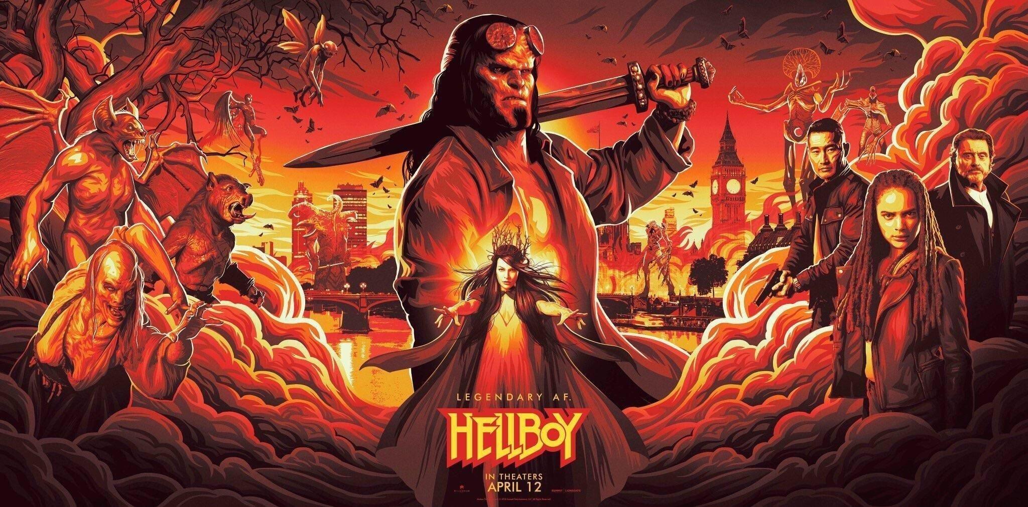 Bannière du film Hellboy réalisé par Neil Marshall pour la NYCC 2018