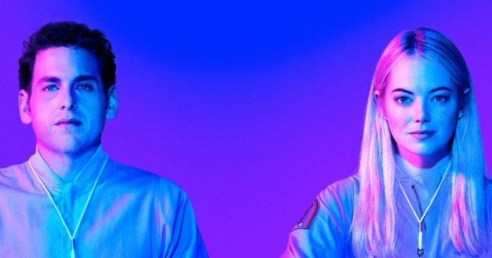 Poster de la mini-série Maniac avec Jonah Hill et Emma Stone