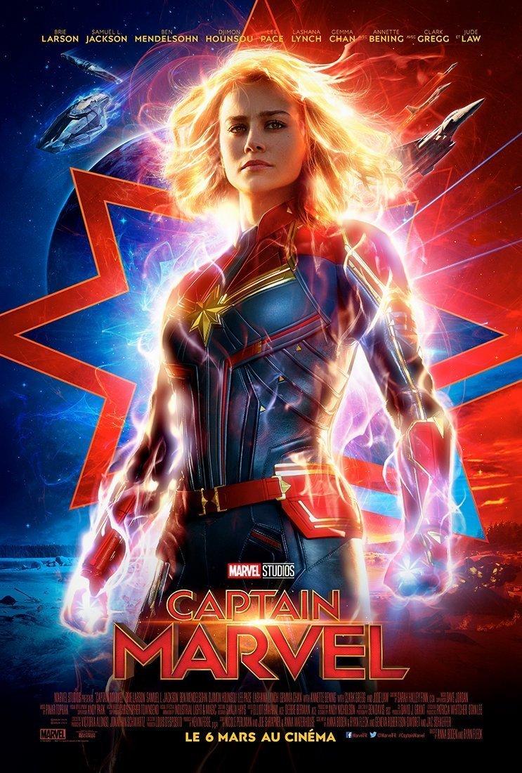 Affiche française du film Captain Marvel avec Brie Larson