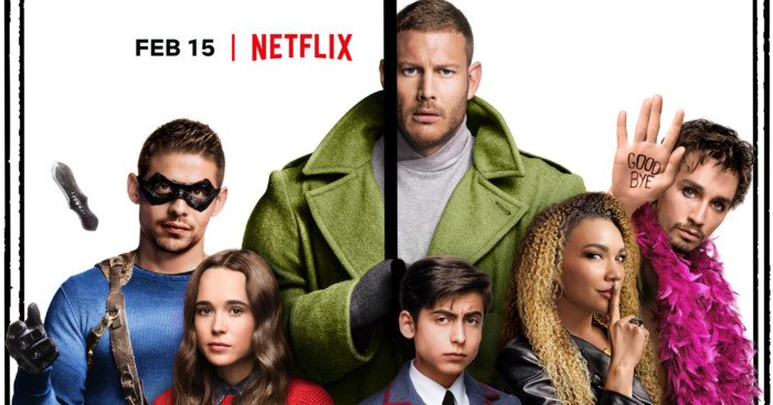 Poster pour la série Netflix, Umbrella Academy, créée par Jeremy Slater