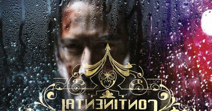 Affiche du film John Wick Parabellum avec Keanu Reeves devant le Continental