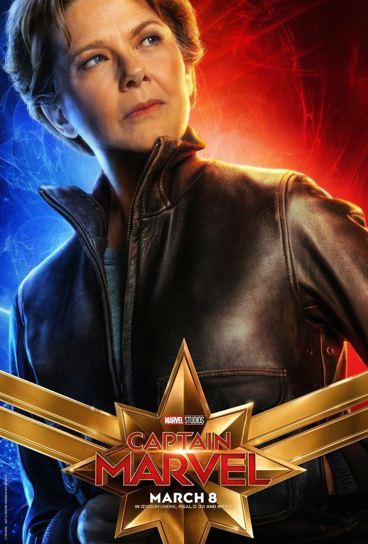 Poster du film Captain Marvel avec Annette Bening