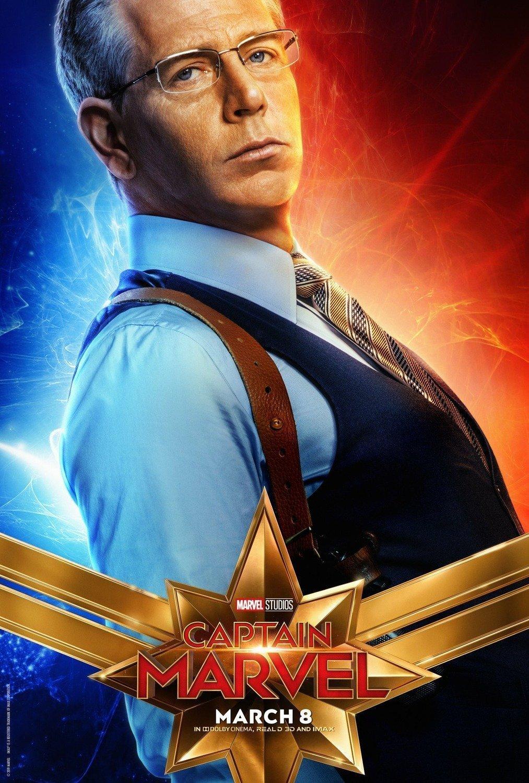 Poster du film Captain Marvel avec Ben Mendelsohn (Talos)