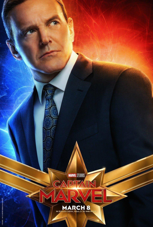 Poster du film Captain Marvel avec Clark Gregg (Coulson)