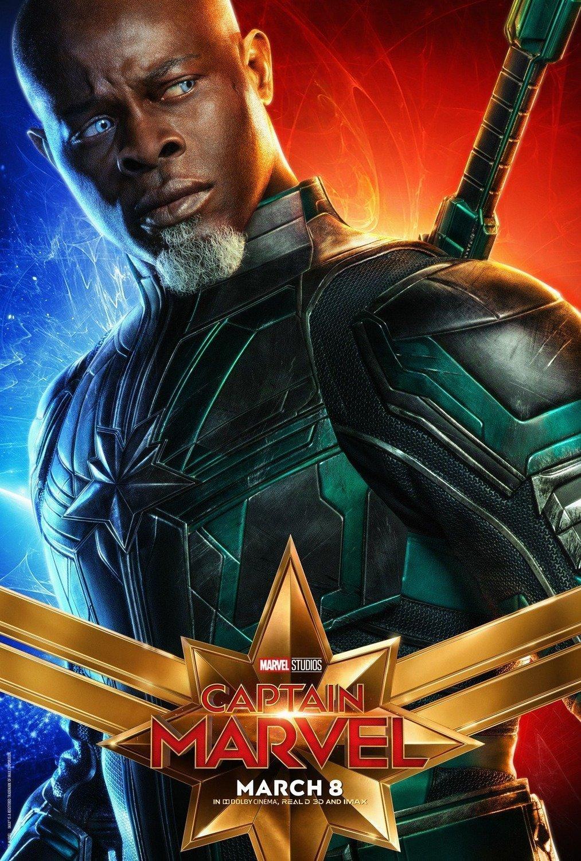 Poster du film Captain Marvel avec Djimon Hounsou (Korath)