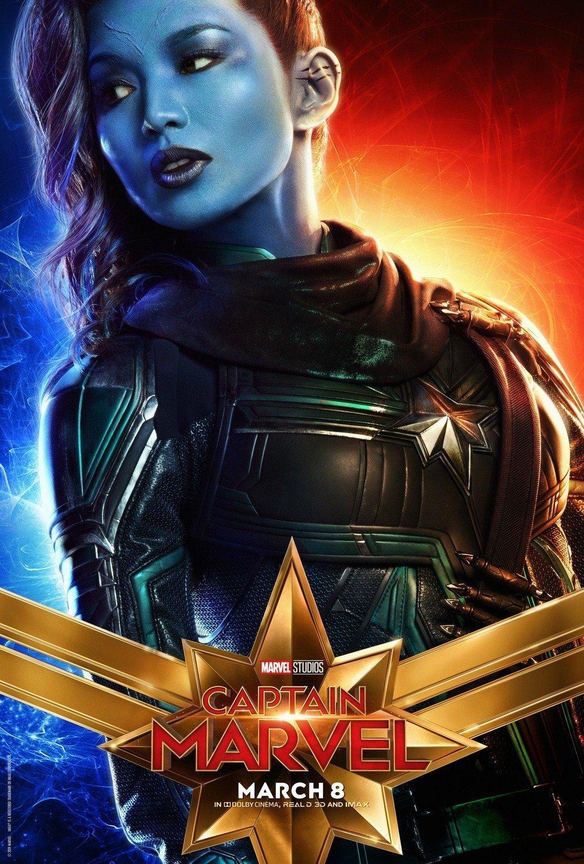 Poster du film Captain Marvel avec Gemma Chan (Minn-Erva)