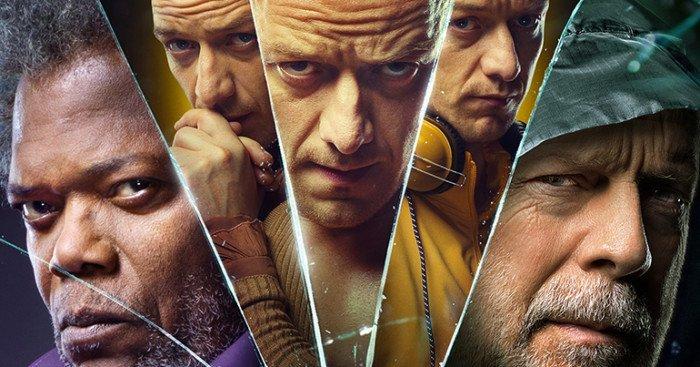 Affiche française du film Glass écrit et réalisé par M. Night Shyamalan avec James McAvoy, Bruce Willis et Samuel L. Jackson