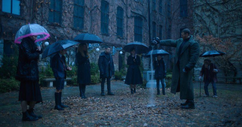 Photo des funérailles dans la série Netflix, Umbrella Academy