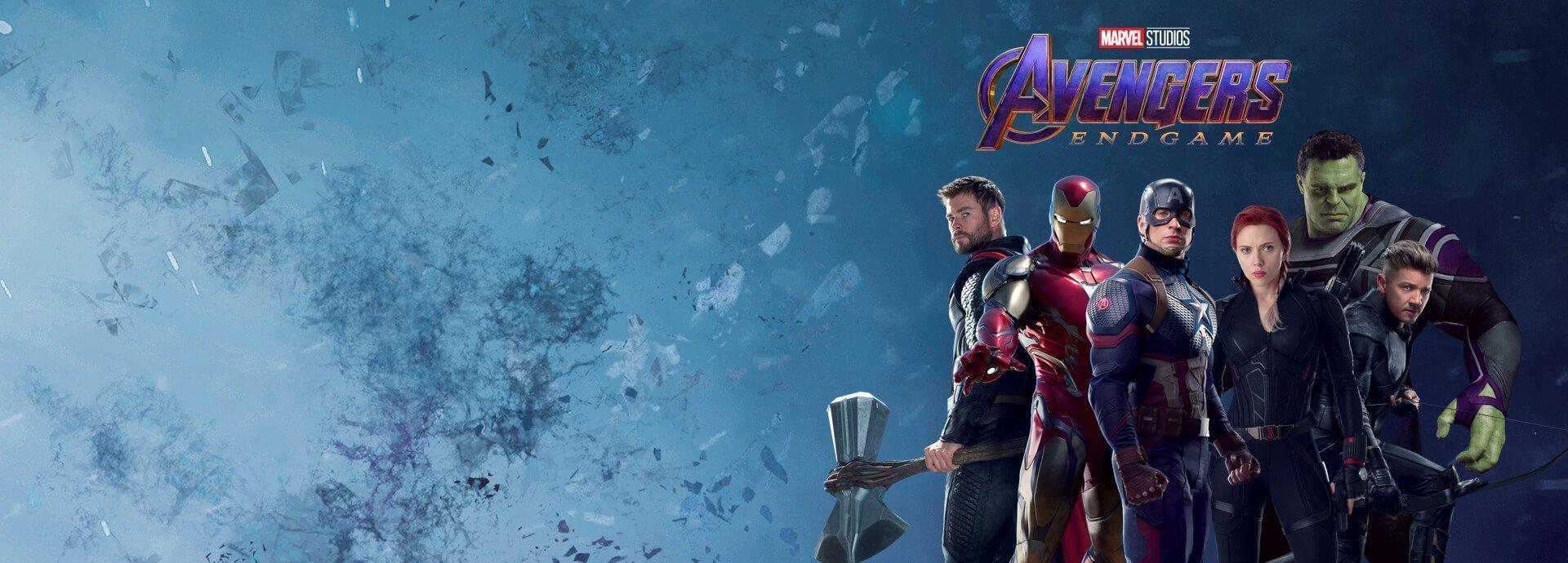 Deuxième image promotionnelle du film Avengers: Endgame présentant l'équipe composé des six Avengers d'origine
