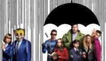 Bannière pour la première saison de la série Netflix, Umbrella Academy, créée par Jeremy Slater
