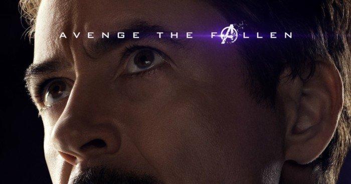 Poster du film Avengers: Endgame avec Iron Man / Tony Stark (Robert Downey Jr)