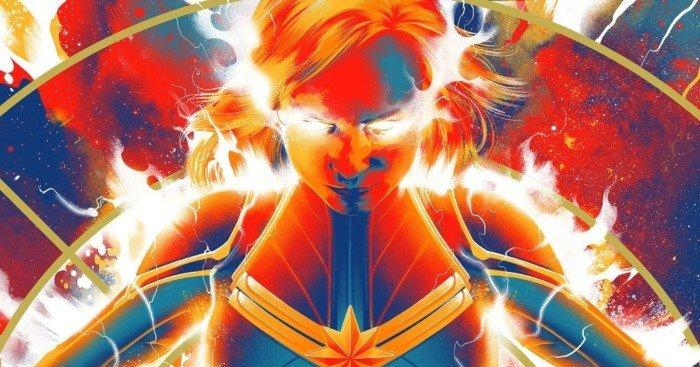Poster Mondo pour le film Captain Marvel avec Brie Larson