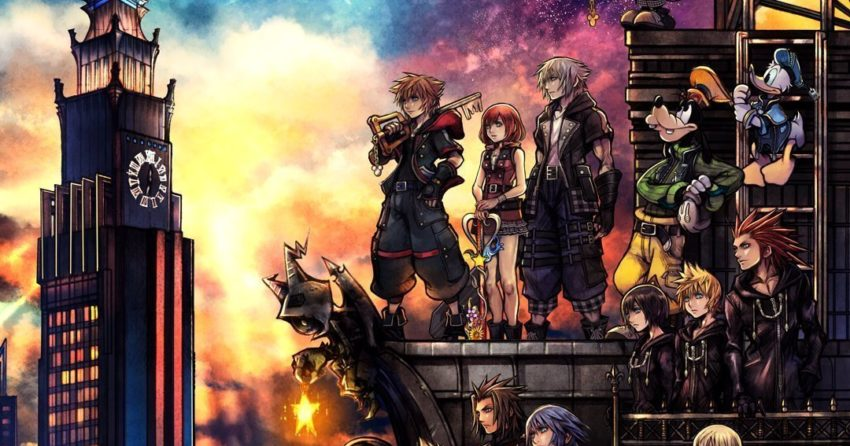 Poster cover art pour le jeu vidéo Kingdom Hearts III