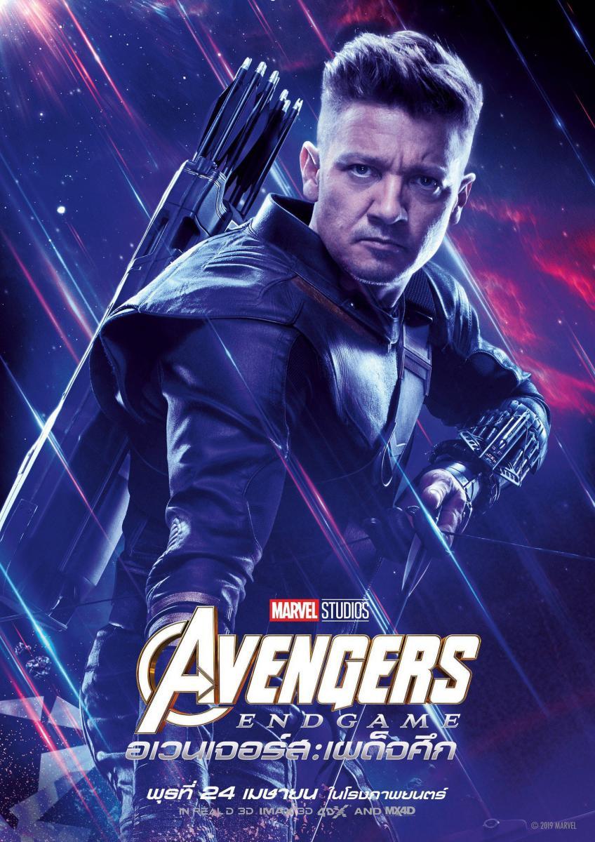 Poster du film Avengers: Endgame avec Hawkeye
