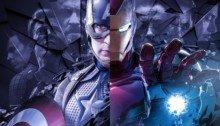 Image pour le film Avengers: Endgame avec Captain America et Iron Man par BossLogic